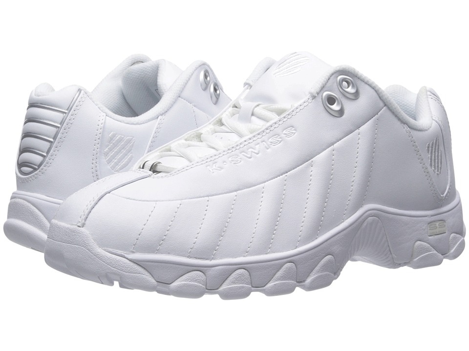 K-Swiss - ST329 CMF (White/Silver Leather) Women