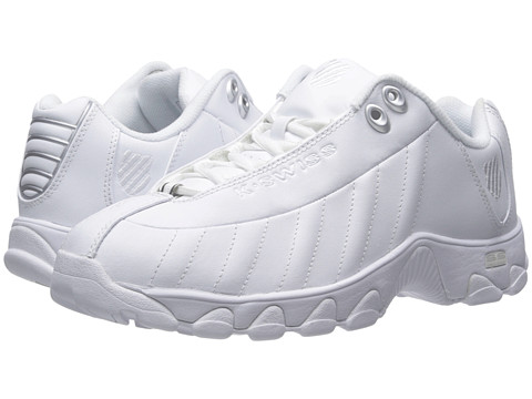 K-Swiss - ST329 CMF (White/Silver Leather) Women's Running Shoes