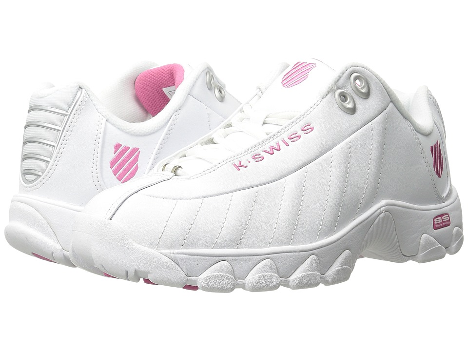 K-Swiss ST329 CMF (White/Shocking Pink Leather) Women
