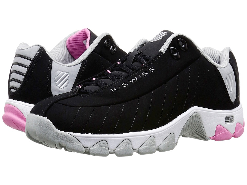 K-Swiss - ST329 CMF (Black/Pink Carnation/Highrise Nubuck) Women
