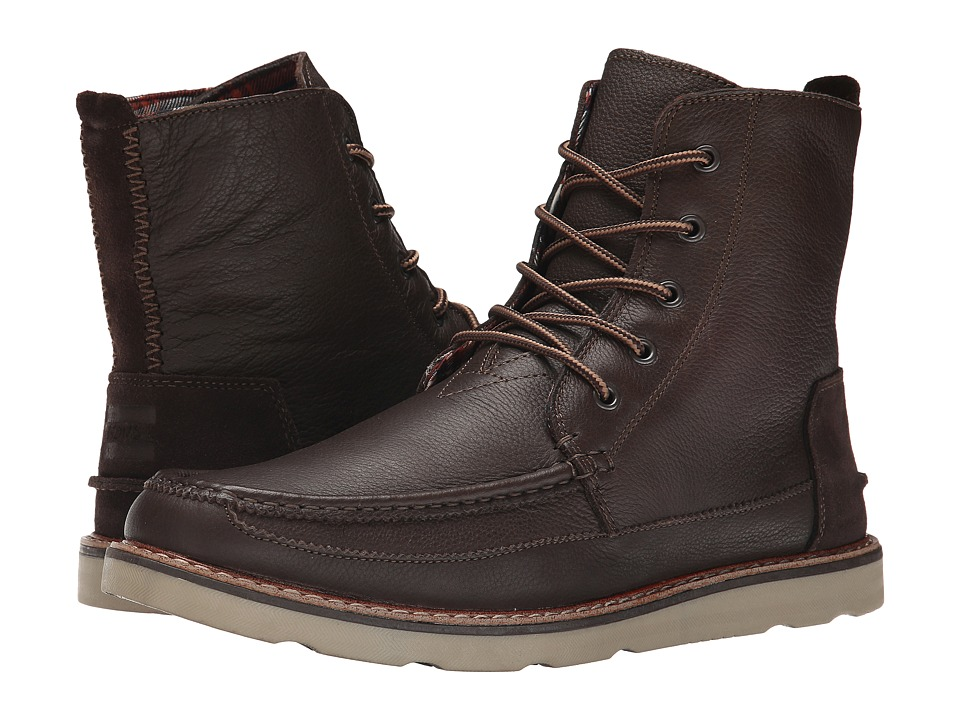 TOMS Searcher Boot (Chocolate Brown Full Grain Leather) Men