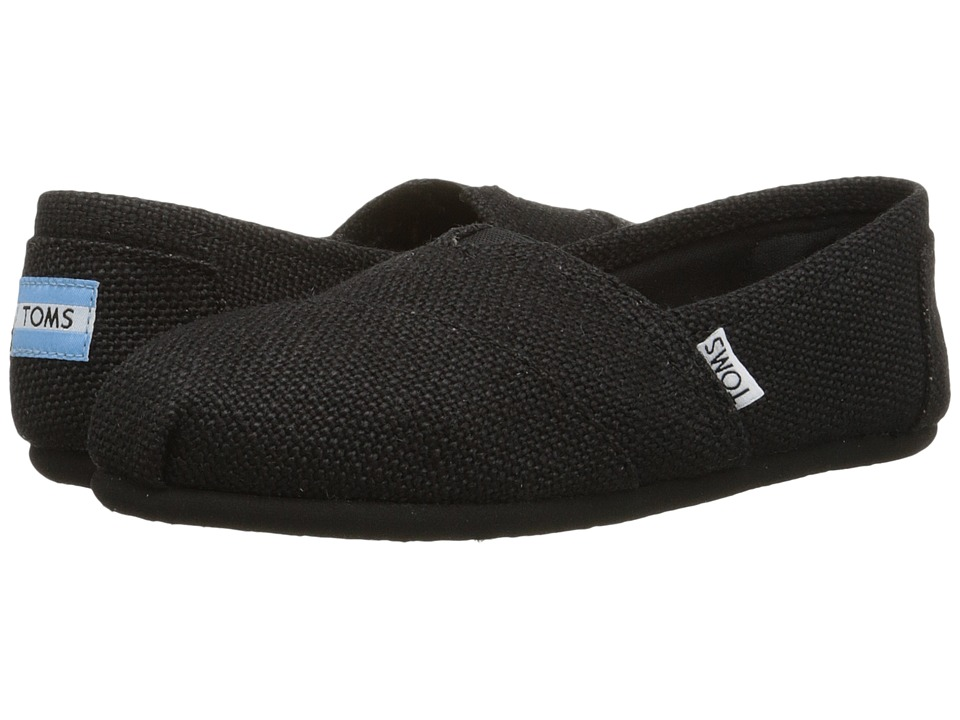 TOMS - Burlap (Black Burlap) Women's Flat Shoes