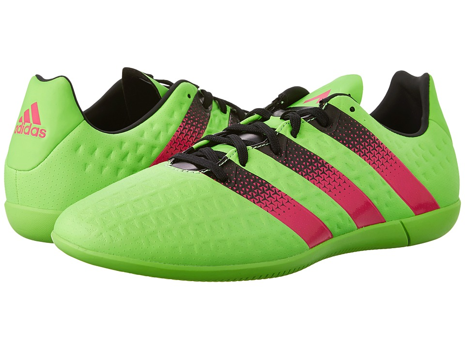 adidas - Ace 16.3 IN (Solar Green/Shock Pink/Black) Men's Soccer Shoes