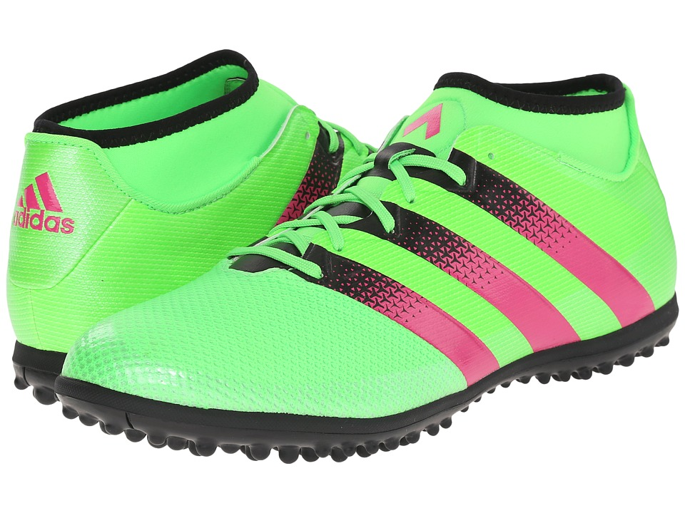 adidas - Ace 16.3 Primemesh TF (Solar Green/Shock Pink/Black) Men's Soccer Shoes