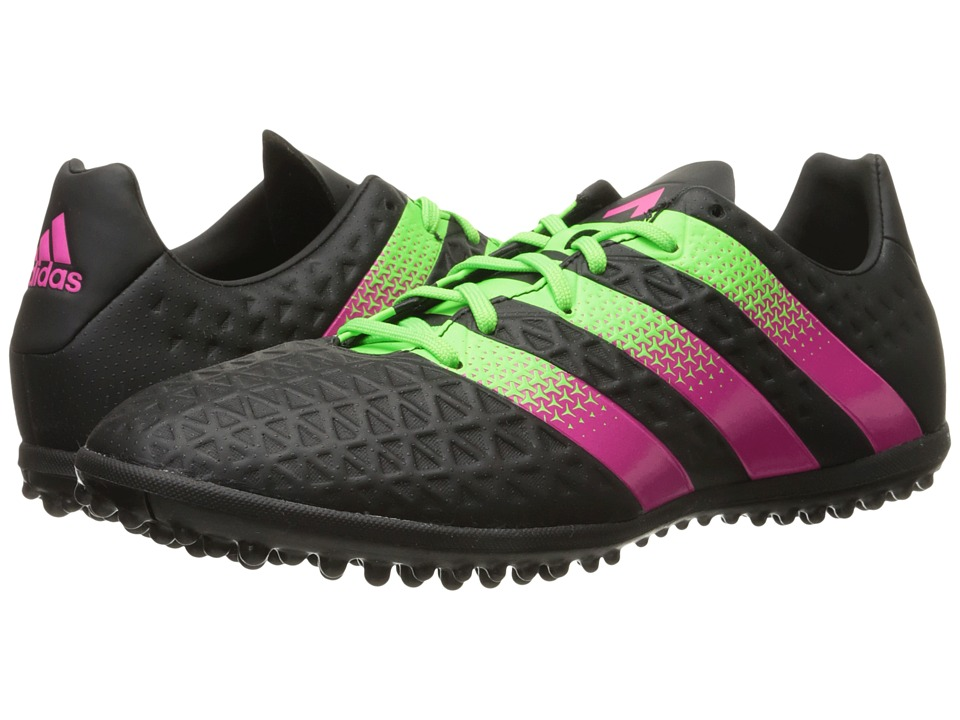 adidas - Ace 16.3 TF (Black/Solar Green/Shock Pink) Men's Soccer Shoes