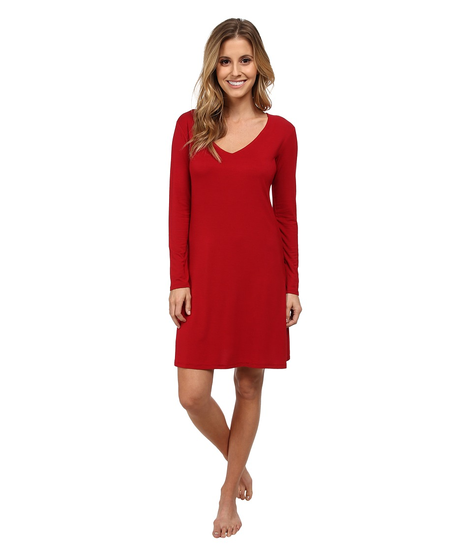 Natori - Feathers Sleepshirt (Bed Red) Women's Pajama
