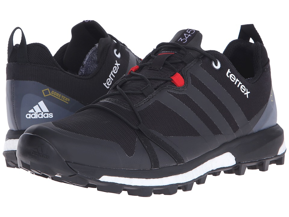 adidas Outdoor - Terrex Agravic GTX (Black/Power Red/White) Men's Shoes
