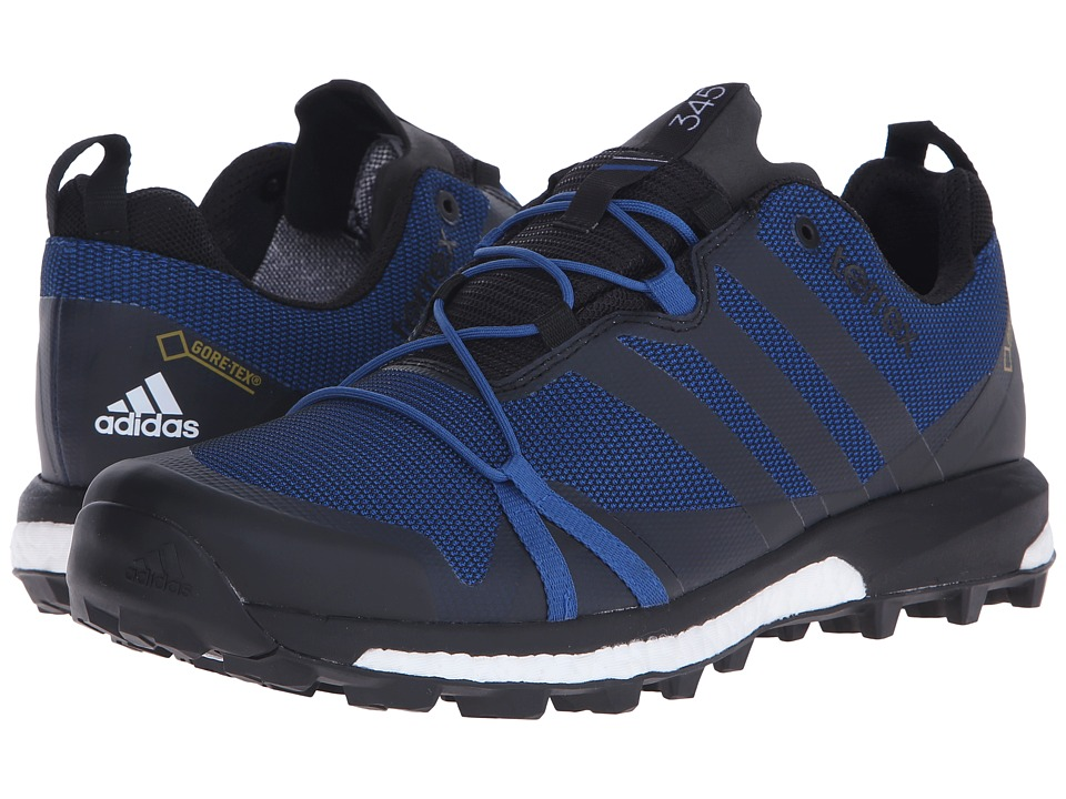 adidas Outdoor - Terrex Agravic GTX (EQT Blue/Black/White) Men's Shoes