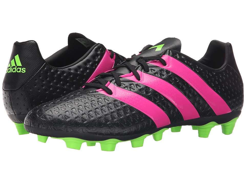 adidas - Ace 16.4 FxG (Black/Solar Green/Shock Pink) Men's Soccer Shoes
