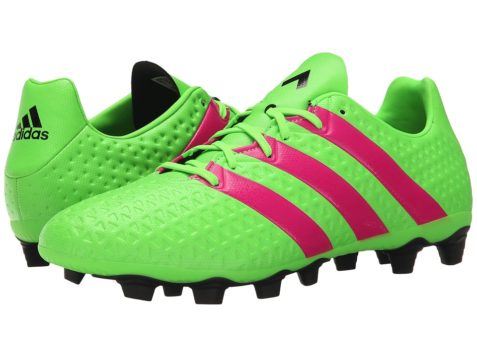 adidas - Ace 16.4 FxG (Solar Green/Shock Pink/Black) Men's Soccer Shoes