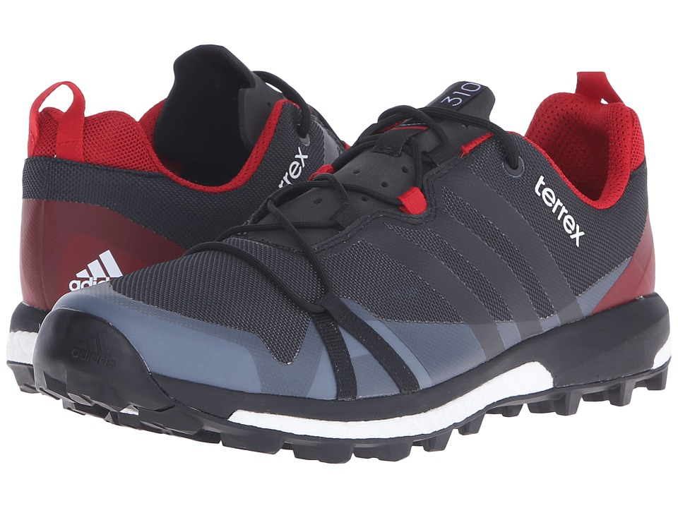 adidas Outdoor - Terrex Agravic (Dark Grey/Black/Power Red) Men's Shoes