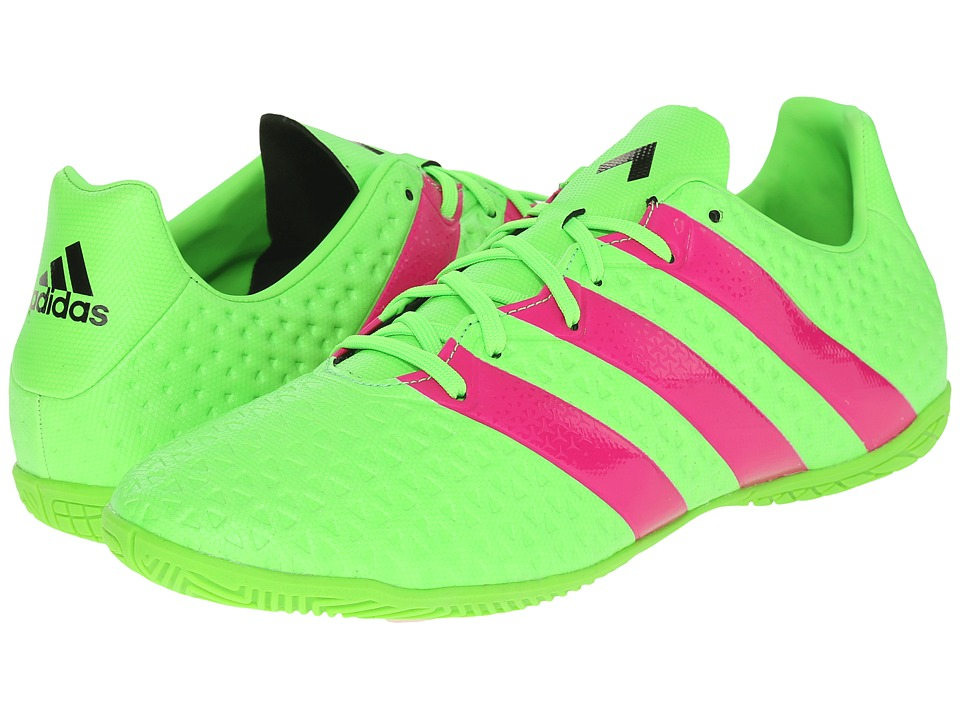 adidas - Ace 16.4 IN (Solar Green/Shock Pink/Black) Men's Soccer Shoes