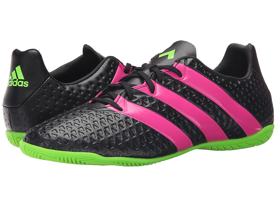 adidas - Ace 16.4 IN (Black/Solar Green/Shock Pink) Men's Soccer Shoes