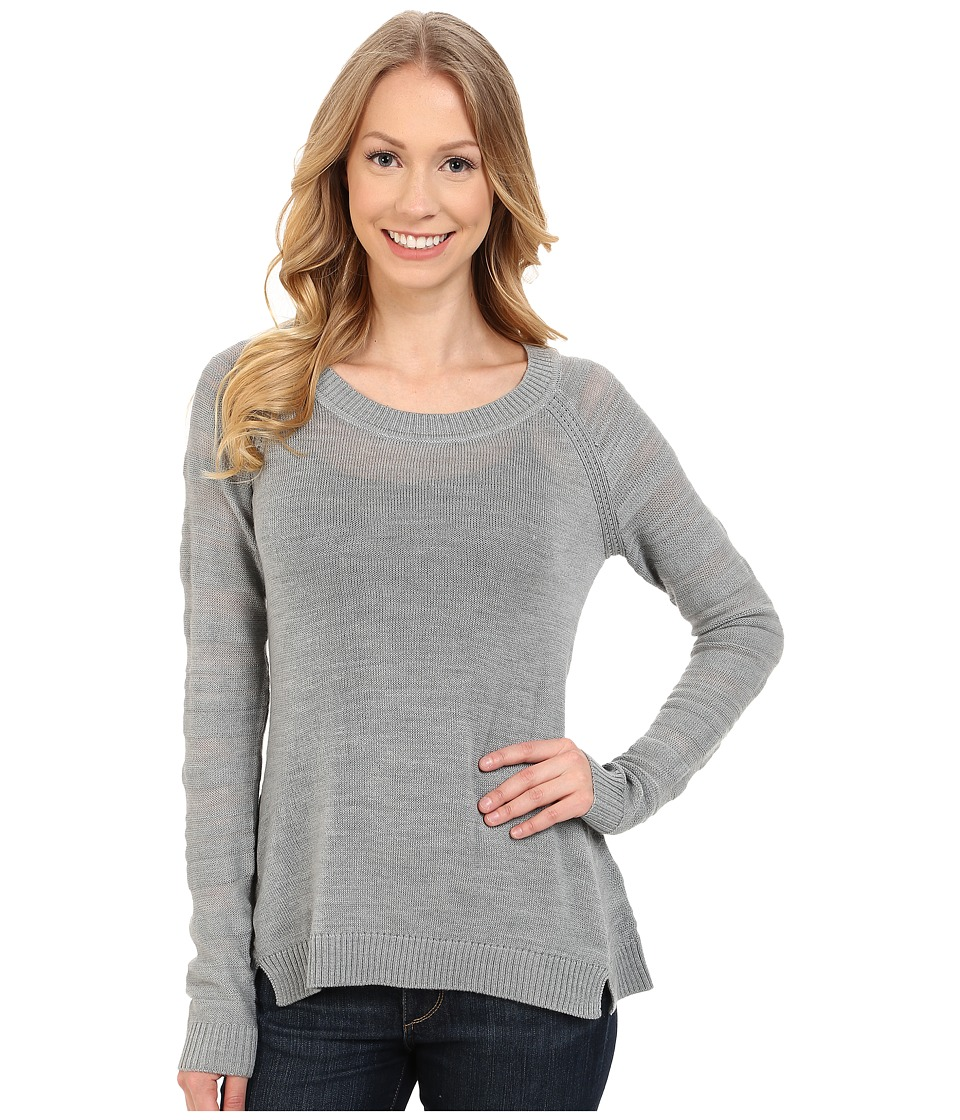 Smartwool - Palisade Trail Striped Crew (Silver Gray Heather) Women's Sweater