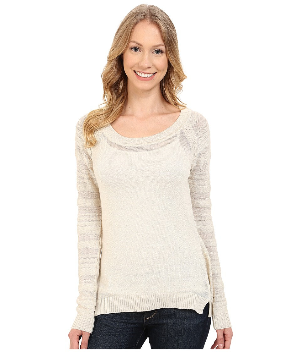 Smartwool - Palisade Trail Striped Crew (Natural Heather) Women's Sweater