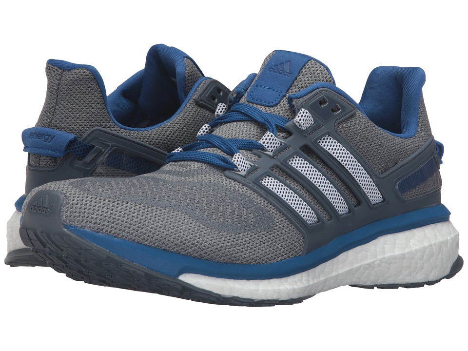 adidas - Energy Boost 3 (Mid Grey/Black/EQT Blue) Men's Running Shoes