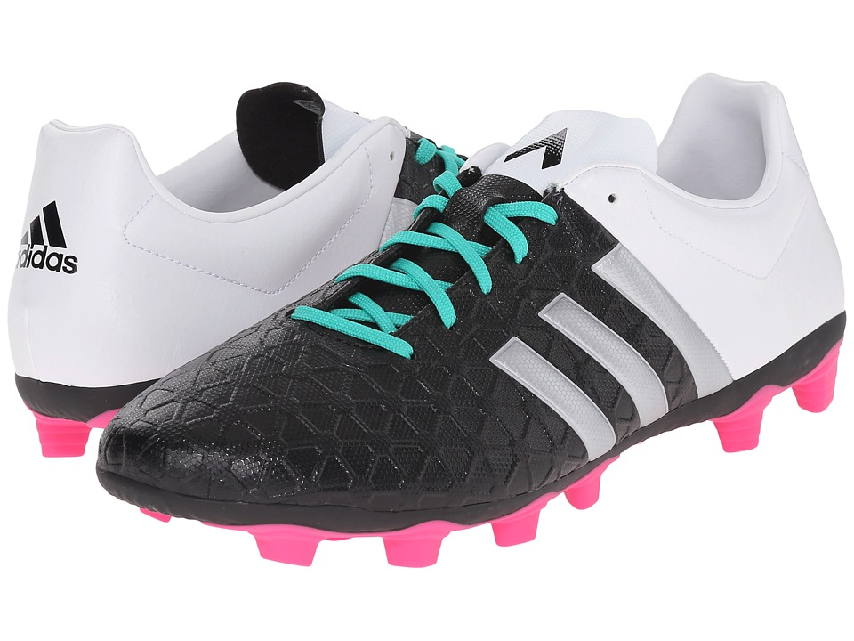 adidas - Ace 15.47 FxG (Black/Matte Silver/White) Men's Soccer Shoes