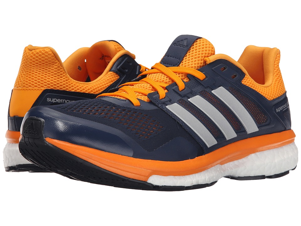 adidas Running - Supernova Glide 8 (Collegiate Navy/Matte Silver/EQT Orange) Men's Running Shoes