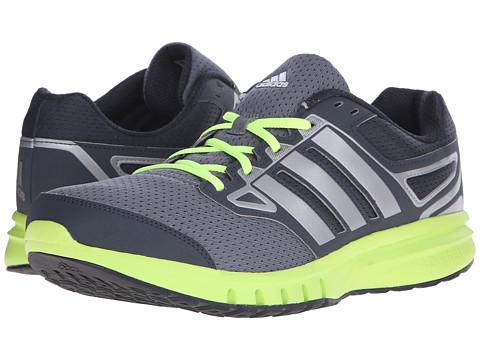 adidas - Galactic Elite (Dark Grey/Solar Yellow/Iron Metallic) Men's Running Shoes