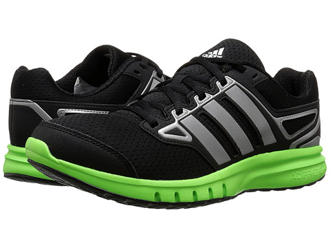 adidas - Galactic Elite (Black/Solar Green/Iron Metallic) Men's Running Shoes