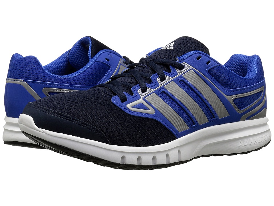 adidas - Galactic Elite (White/Blue/Iron Metallic) Men's Running Shoes