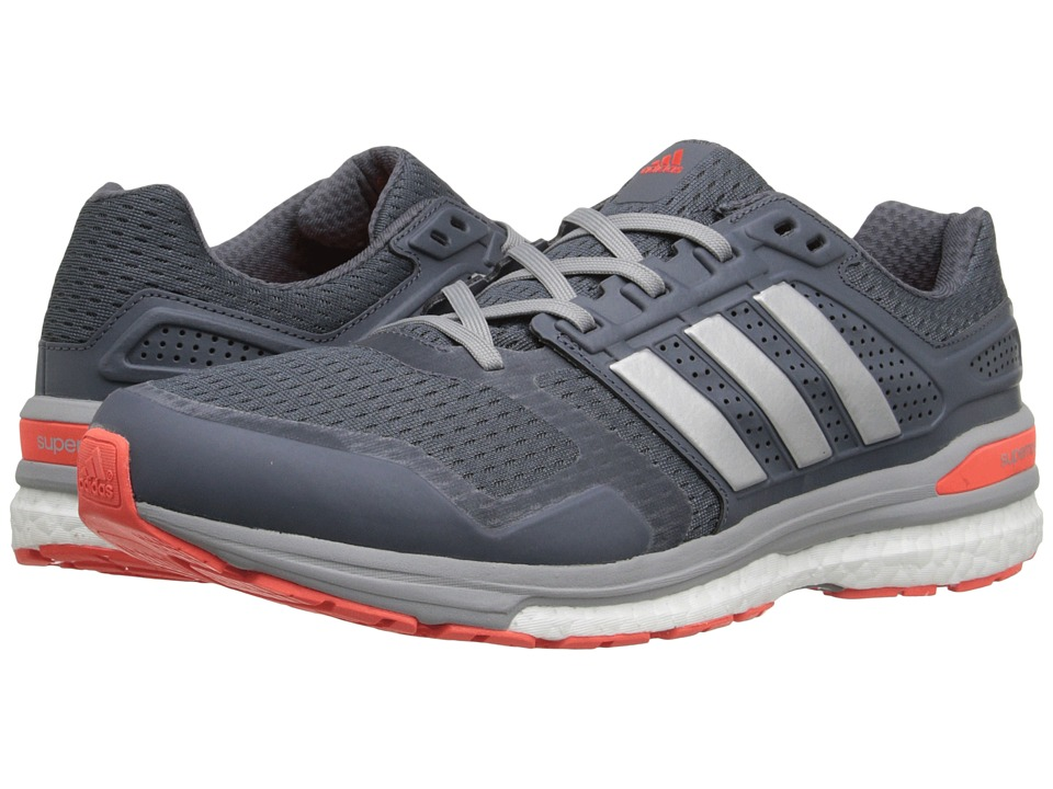 adidas Running - Supernova Sequence 8 (Onix/Silver Metallic/Solar Red) Men's Running Shoes
