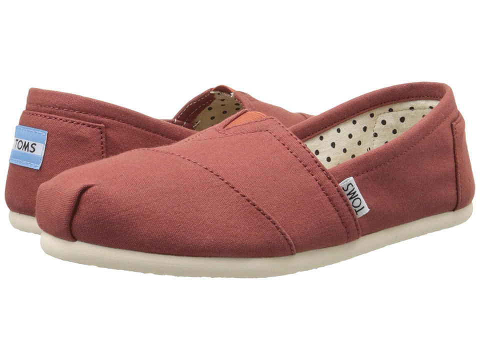 TOMS - Classics (Picante Red Canvas) Women's Slip on Shoes