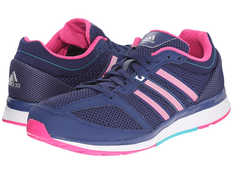 adidas - Zero Bounce (Mineral Blue/Silver Metallic/Shock Green) Women's Running Shoes