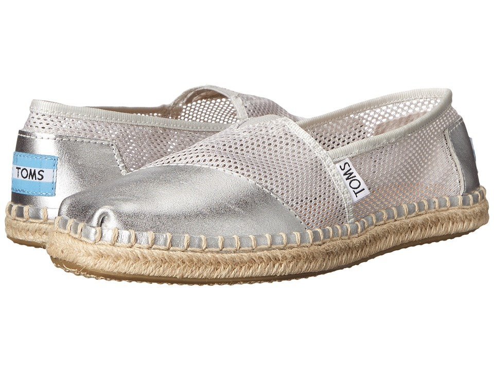 TOMS - Mesh Classics (Silver Mesh) Women's Slip on Shoes