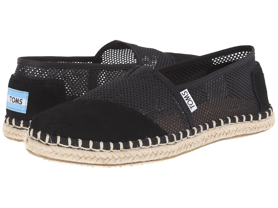 TOMS - Mesh Classics (Black Mesh) Women's Slip on Shoes