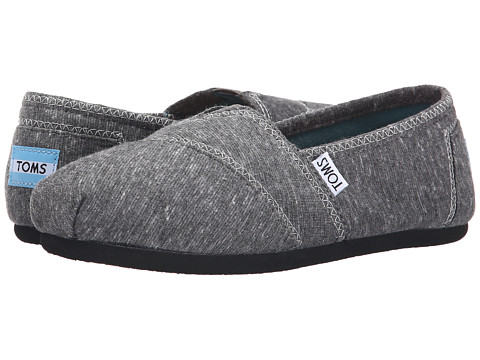 TOMS - Seasonal Classics (Dark Grey Marled Jersey) Women's Slip on Shoes
