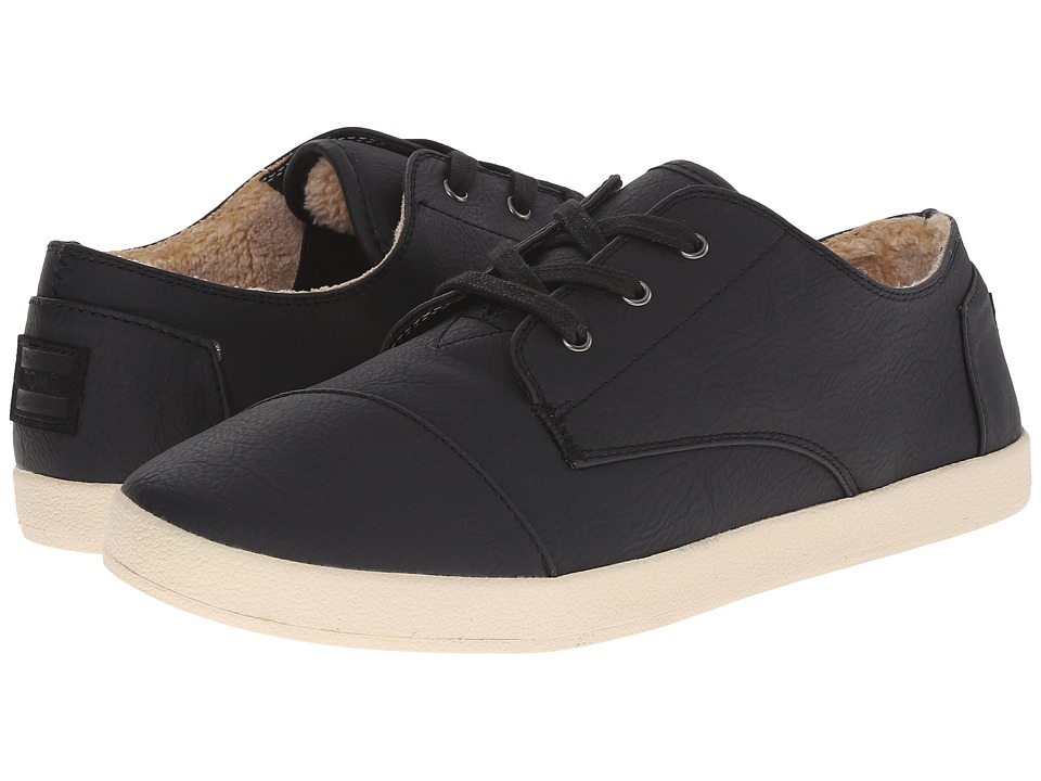 TOMS Paseo (Black Synthetic Leather Shearling) Women
