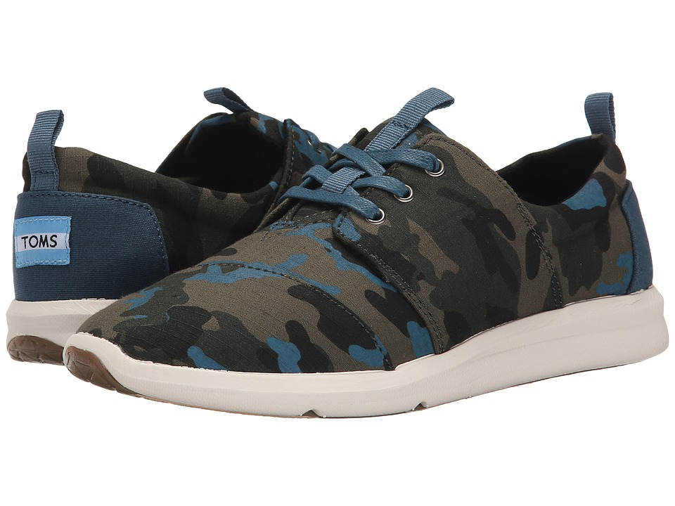 TOMS - Del Rey Sneaker (Camo Canvas Printed) Women's Lace up casual Shoes