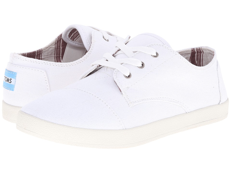 TOMS - Paseo (White Canvas) Women's Lace up casual Shoes