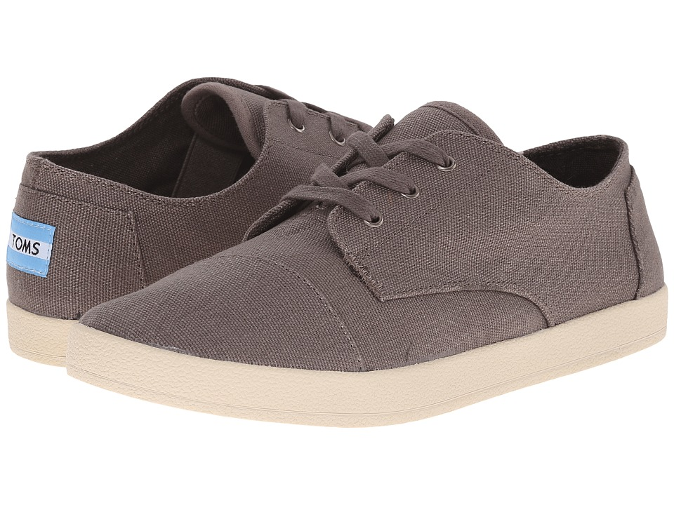 TOMS - Paseo (Ash Grey Canvas) Women's Lace up casual Shoes