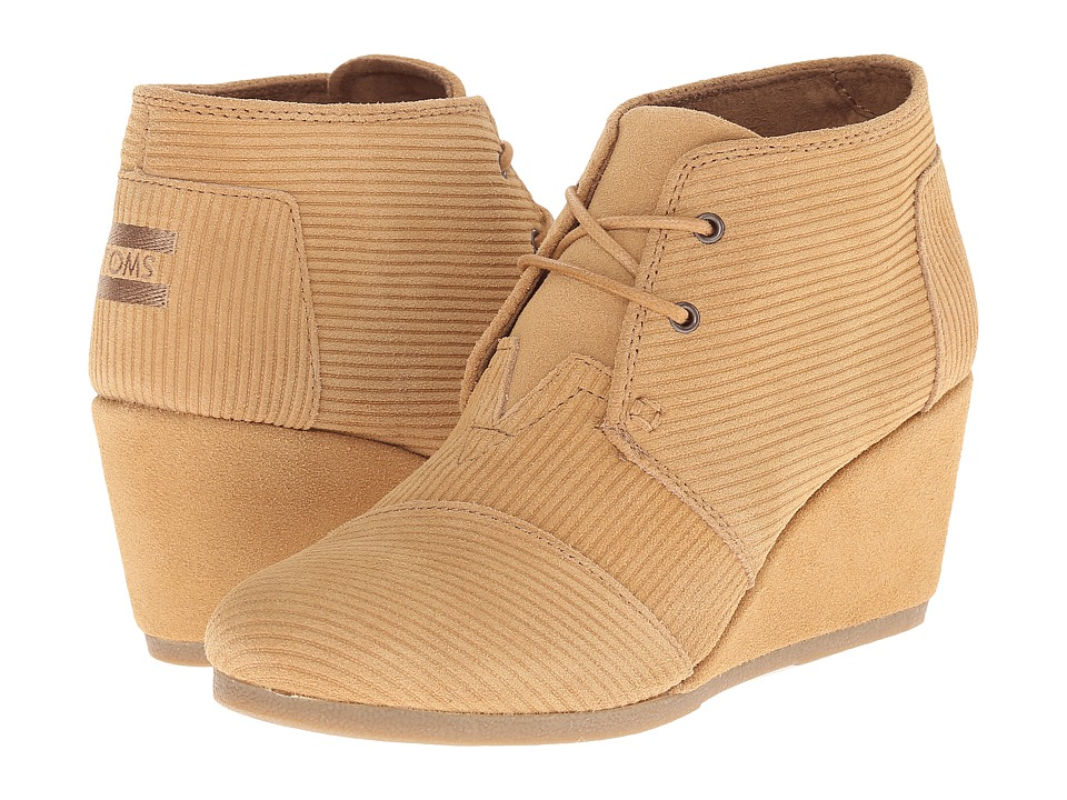 TOMS - Desert Wedge (Brown Sugar Suede Corduroy) Women's Wedge Shoes