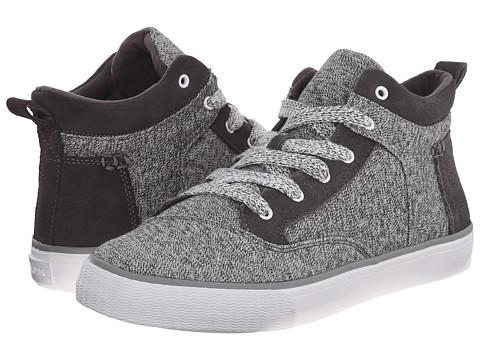TOMS - Camila High (Grey Suede Textile) Women