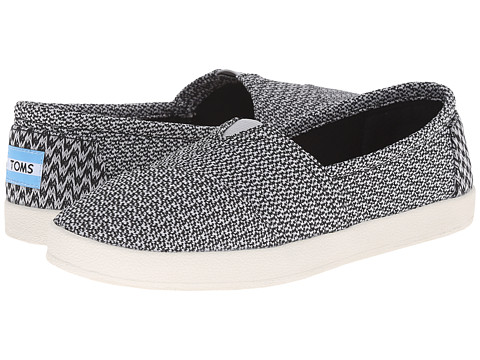 TOMS - Avalon Sneaker (Black Grey Mesh) Women's Slip on Shoes