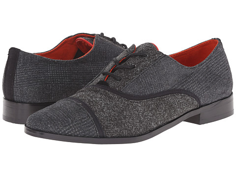 TOMS - Mocha Brogue (Black Textile Mix) Women