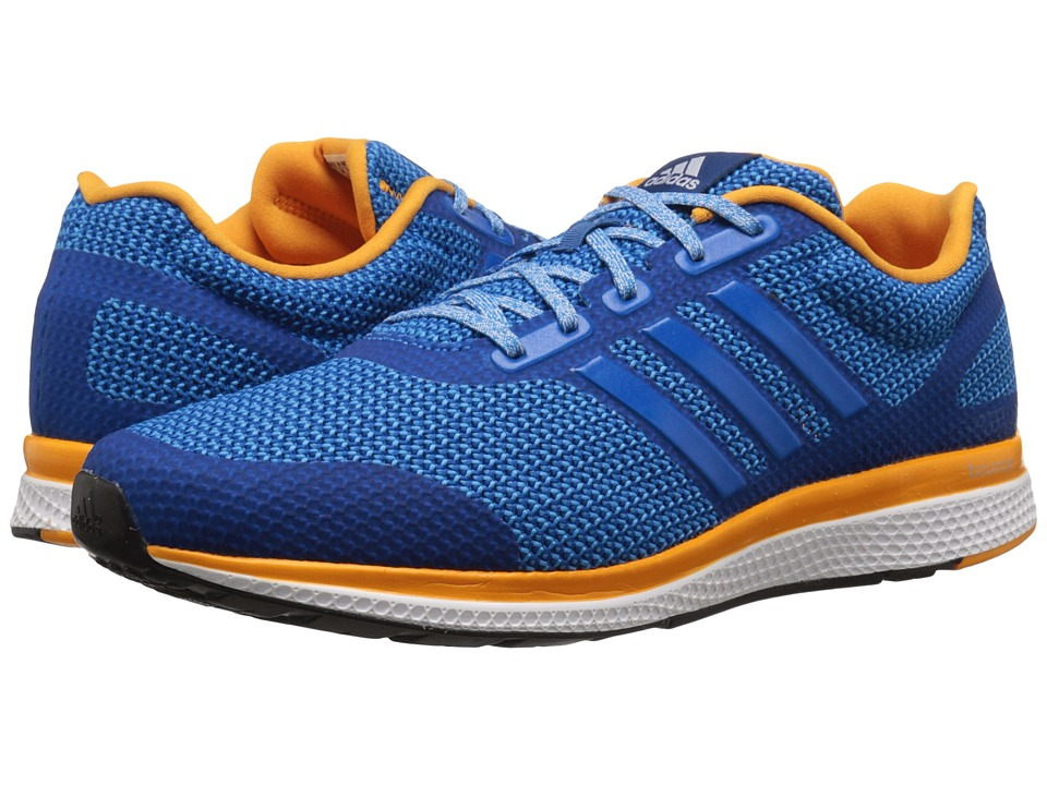 adidas - Mana Bounce (Shock Blue/EQT Orange/Crystal White) Men's Running Shoes