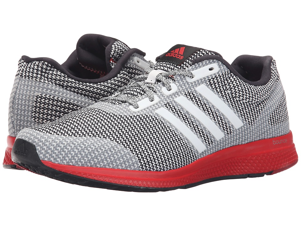 adidas Running - Mana Bounce (Crystal White/Black/Vivid Red) Men's Running Shoes