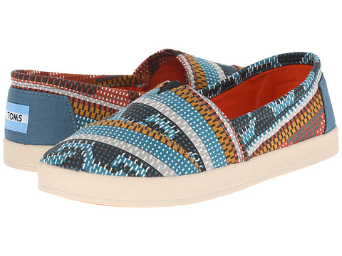 TOMS - Avalon Sneaker (Multi Canvas Geometric) Women's Slip on Shoes
