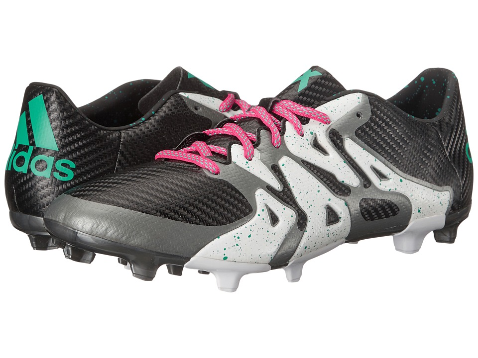 adidas - X 15.3 FG/AG (Black/Shock Mint/White) Men's Cleated Shoes