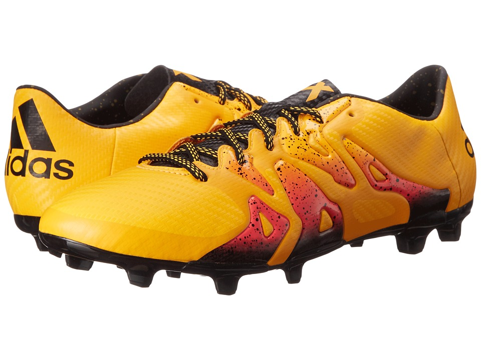 adidas - X 15.3 FG/AG (Solar Gold/Black/Shock Pink) Men's Cleated Shoes