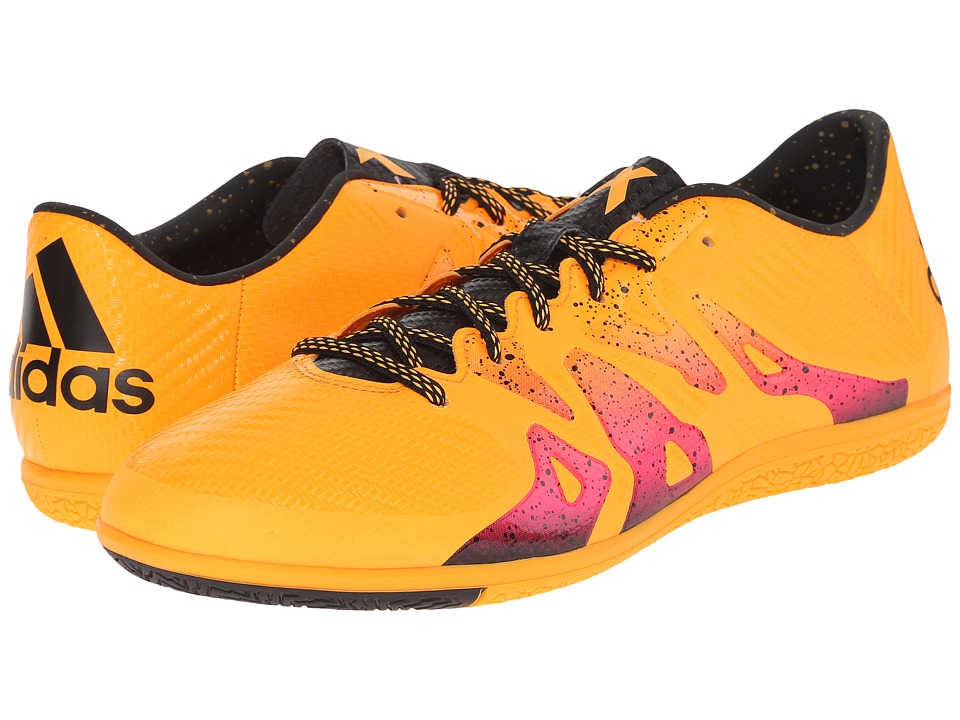 adidas - X 15.3 IN (Solar Gold/Black/Shock Pink) Men's Soccer Shoes