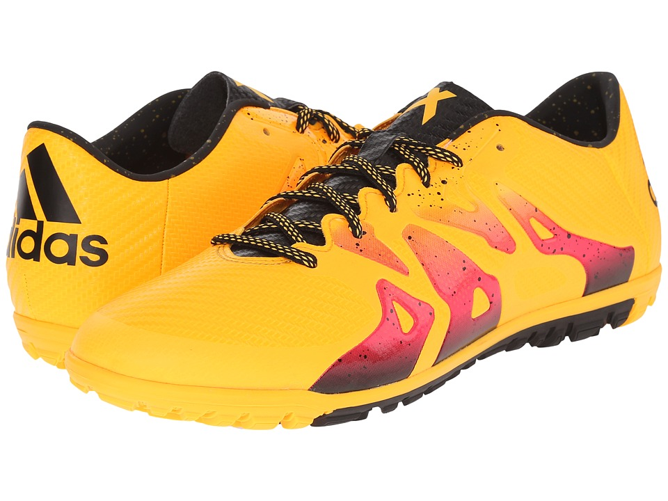 adidas - X 15.3 TF (Solar Gold/Black/Shock Pink) Men's Soccer Shoes