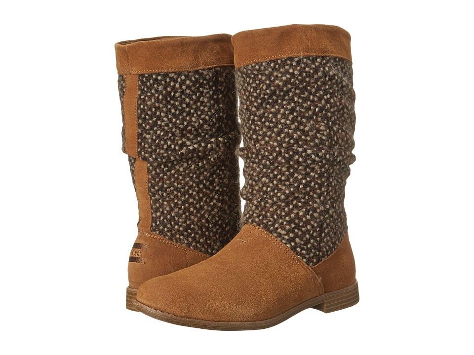 TOMS - Serra Boot (Brown Sugar Suede Textile) Women's Pull-on Boots