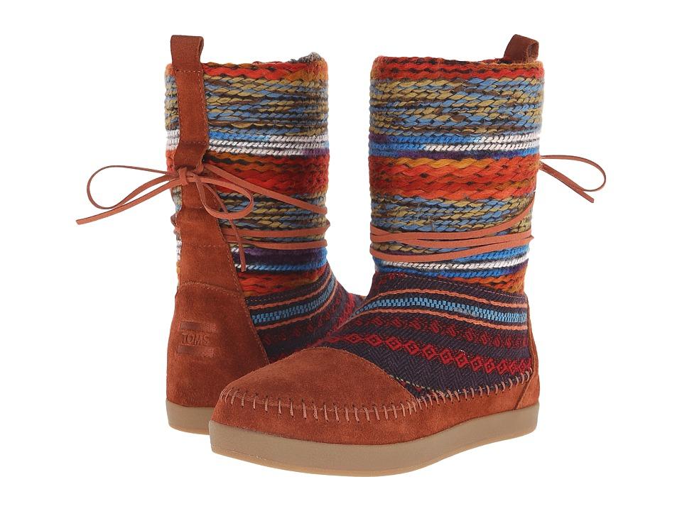 TOMS Nepal Boot (Cognac Suede Textile Mix) Women