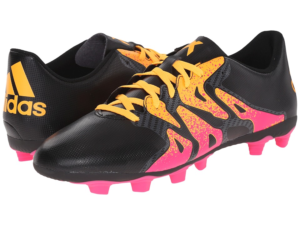 adidas - X 15.4 FxG (Black/Shock Pink/Solar Gold) Men's Soccer Shoes