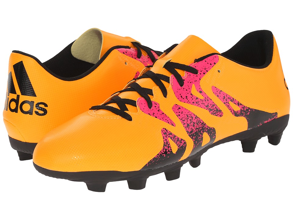 adidas - X 15.4 FxG (Solar Gold/Black/Shock Pink) Men's Soccer Shoes